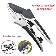 OAGTECH Ratchet Carbon Steel Pruning Shear Gardening Fruit Tree Flower Pruning Scissor Tool *** Read more  at the image link.