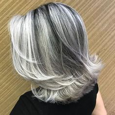 frosted hair for gray hair Grey Hair At 25, Long Gray Hair, Silver Grey Hair, Dyed Gray Hair, Lilac Hair, Pastel Hair, Green Hair, Blue Hair, Dyed Hair