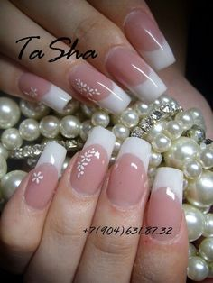faded french nails with diamonds - faded for . - faded french nails with diamonds – faded for … – faded french nails with - French Nails, French Acrylic Nails, French Manicure Nails, Manicure And Pedicure, Love Nails, Pink Nails, Pretty Nails, My Nails, Silver Nails