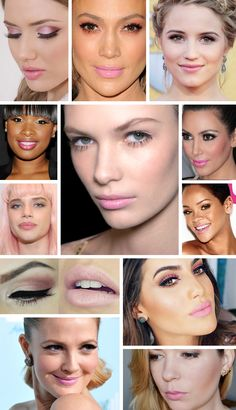 O rosa quartzo, uma das cores eleitas pela Pantone para o ano de 2016, também pode ser visto na maquiagem. Veja como as celebridades usaram esse tom super delicado de rosa e se inspire!