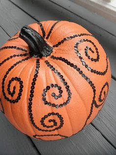 Sequin pumpkin! Love this!!! - Click image to find more Holidays & Events Pinterest pins