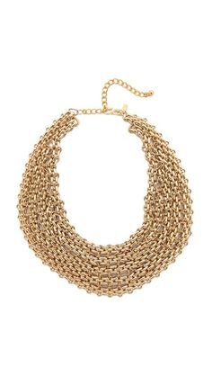 Kenneth Jay Lane Chain Layered Necklace