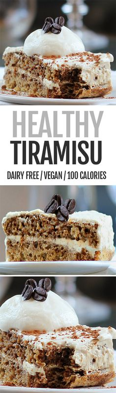 Ultra creamy Tiramisu recipe without any of the heavy cream or unhealthy ingredients
