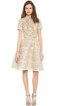 Rochas Layered Lace Skirt. #SHOPBOP