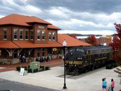 Western Maryland Depot in Elkins, West Virginia.