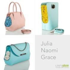 Rose Quartz Limpet Shell Yellow and Indigo are the colors of our S/S Leather Collection. Which one is your favorite? #rosequartz #serenity #pantone2016 #colors #fashion #moda #springcollection #ss16 #ss2016 #handbags #borse #trends #clutches #bags #fashionflowers #pastels #colors #flowers