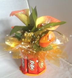 Candy Bouquet Edible Vase Fun Size - KitKat