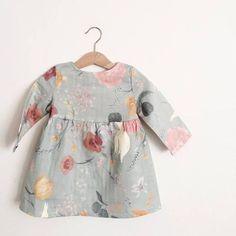 Girls Long Sleeve Dress Rustic Boho Girls Dress Boho Flower – Fashion World Little Girl Fashion, Fashion Kids, Toddler Fashion, Fashion Women, Fashion Clothes, Fashion Outfits, Boho Girl, Kids Wear, Baby Dress