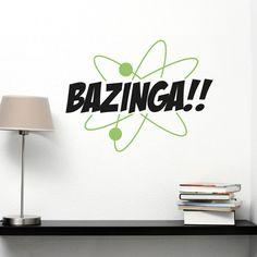 The Big Bang Theory, tu serie favorita en la pared!! Vinilo decorativo del grito de victoria de Sheldon, a dos colores.