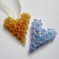 Crystal Triangle Puffy Heart Pattern at Sova-Enterprises.com. Lots of free beading patterns and tutorials are available on this site!