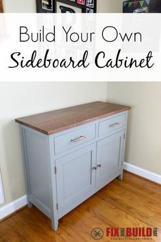 Build your own DIY Sideboard Cabinet with full detailed plans to help you along the way! Build your own DIY Sideboard Cabinet with full detailed plans to help you along the way! Diy Furniture Plans, Woodworking Furniture, Furniture Projects, Woodworking Projects, Woodworking Videos, Youtube Woodworking, Woodworking Classes, Furniture Stores, Woodworking Magazines