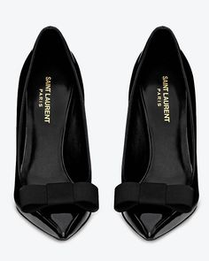Shiny Saint Laurent pointy toe pumps
