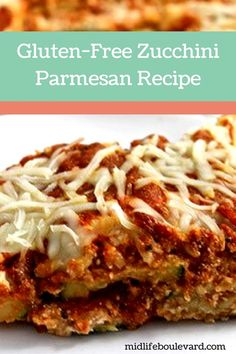 Deliciously simple, gluten-free, cheesy goodness of zucchini parmesan. Weight Watchers recipe that's a nice variation on eggplant parmesan. Vegetable Dishes, Vegetable Recipes, Vegetarian Recipes, Healthy Recipes, Free Recipes, Parmesan Recipes, Zucchini Parmesan, Eggplant Parmesan, Quick Easy Meals