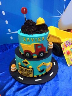 Construction themed cake - Cake by Donna Dolendo
