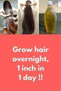 Grow hair overnight 1 inch in 1 day ! In this article I will share with you How to grow your hair overnight faster and longer. Grow your Hair 1 inch in 1 day. A Magical Formula to Grow your Hair Super fast Guaranteed Result. For this you will nee Coconut Oil Hair Growth, Coconut Oil Hair Mask, Coconut Oil Hair Treatment, Castor Oil For Hair Growth, Olive Oil Hair Growth, Almond Oil Hair, Almond Oil Benefits Hair, Aloe Vera Gel For Hair Growth, Olive Oil For Hair