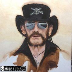 R.I.P. Lemmy, oil on canvas #madskulls #oil #painting #oilpainting #art #lemmy #motörhead #winsorandnewton #allaprima