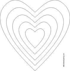 Molde de Coração para Imprimir e Recortar