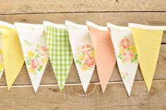 Happy Trails - Vintage Bunting Banner - Free Shipping US and Canada