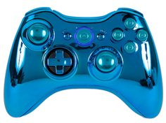 Blue Chrome Pro Series Xbox 360 Modded Controller GM Master Mod: Rapid fire, drop shot, quickscope, jumpshot, trigger stops + more on Etsy, $99.99