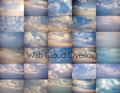 Created for Photoshop and Photoshop Elements there's over 30 cloud overlays to fill your blown out skies with awesome cloud formations and skies. A little tip a