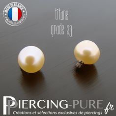 Microdermal Perle naturelle rose - Piercing-Pure Piercings, Creations, Pure Products, Etsy, Unique, Handmade Gifts, Hand Made, Pink Color, Bead