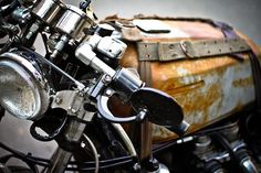 Rat Rod style Cafe Racer based on a Honda Gold Wing Vintage Motorcycles, Custom Motorcycles, Custom Bikes, Steampunk Motorcycle, Motorcycle Tank, Women Motorcycle, Motorcycle Quotes, Motorcycle Design, Motorcycle Helmets