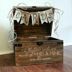 Shabby Chic Rustic Wooden Card Box Wedding Card par boaboowedding, $60.00