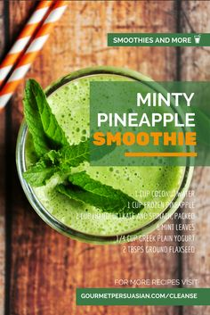 Love smoothies? How about drinking smoothies  like this Minty Pineapple Smoothie and losing weight? Find out more about the plan here!