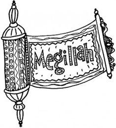 Purim Megillah Coloring Pages | Coloring Page