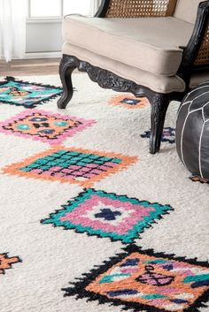 Rugs USA Multi Yuma Tribal Pole Diamonds Rug