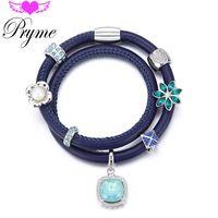 Pryme Fashion Endless Charms Bracelets DIY Jewelry 39CM Leather Charms Endless…