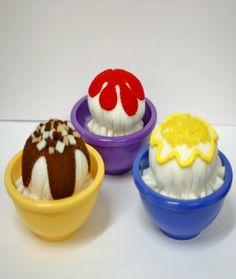 Felt Play Food Ice Cream Sundaes by EvaLauryn