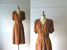 vintage 1940s dress / 40s dress / Rodeo Days by Dronning on Etsy, $110.00