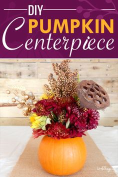 Turn Small Pumpkins Into Vases To Create Fall Floral Centerpieces | eBay