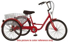 Bikes For Handicapped Adult Two Front Wheels Three Wheel Bike with Basket
