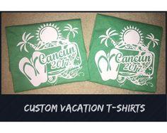 Cusuom Made Vacation T-Shirts  #mexicanvacation #vacation #familytshirts #triptshirt #mexicobound #cancun2017 #girlstrip #cynthiascraftsinvirginia #custommade #tshirts #woodbridgeva #dalecity