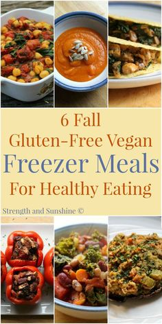 6 Fall Gluten-Free Vegan Freezer Meals For Healthy Eating | Strength and Sunshine /RebeccaGF666/ In a season of busy, having healthy meals on hand to feed and nourish your family should be a priority. With these 6 fall inspired gluten-free vegan freezer meals, healthy dinners can be served in a snap!