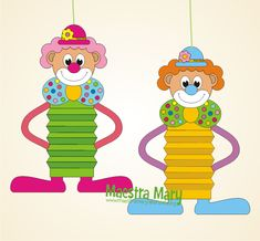 Diy And Crafts, Crafts For Kids, Arts And Crafts, Paper Crafts, Clown Crafts, Halloween Crafts, Circus Theme, Circus Party, Projects For Kids