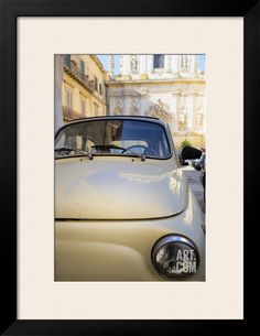 Old Fiat in the Baroque City of Lecce, Puglia, Italy, Europe Photographic Print by Martin at Art.com