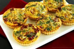 Mini Mediterranean Gluten Free Quiche Recipe