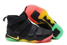 new styles e8953 67c83 Nike LeBron Soldier 11 Black Gold Rainbow Nike Kd Shoes, Pumas Shoes, New  Jordans