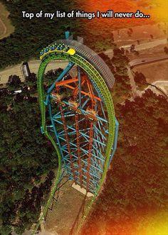 Funny pictures about Kingda Ka Roller Coaster. Oh, and cool pics about Kingda Ka Roller Coaster. Also, Kingda Ka Roller Coaster photos. Kingda Ka, Scary Roller Coasters, Roller Coaster Ride, Six Flags Great Adventure, Greatest Adventure, Adventure Travel, Universal Studios, Amusement Park Rides, Paisajes