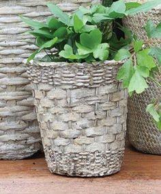 Original diy pots in the garden