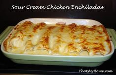 Recipes, Food and Cooking Chicken Enchiladas with Green Chili Sour Cream Sauce » Recipes, Food and Cooking