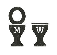 A Bit of Crumpet bathroom signs