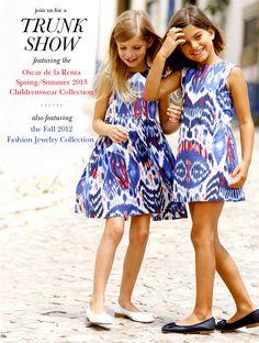 oscar de la renta childrenswear trunk show    when