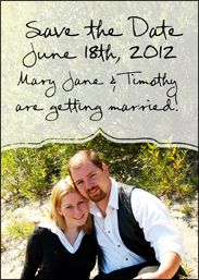 Small photo save the date magnet #wedding