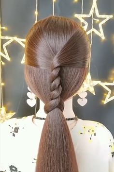 Easy Hairstyle Video, Braided Hairstyles Tutorials, Long Hair Video, Easy Hairstyles For Long Hair, Braids For Long Hair, Hairstyles For Christmas, Hairstyle For Kids, Easy Hair Tutorials, Step By Step Hairstyles