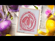 Lesley Teare Happy Easter Egg Cards #crossstitch #lesleyteare #easter #video Egg Card, Crossstitch, Happy Easter, Easter Eggs, Jar, Spring, Blog, Cross Stitch, Happy Easter Day