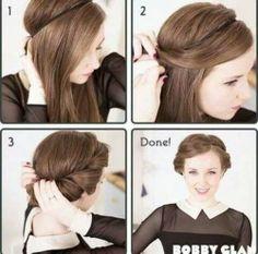 Rolled Hair Tuck Tutorial